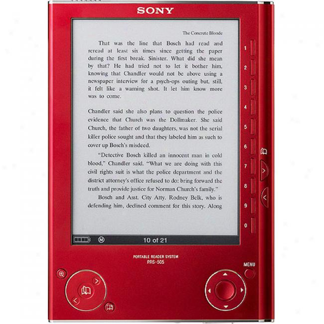 Sony Prs-505rc/ Reader Digital Book - Sangria Red