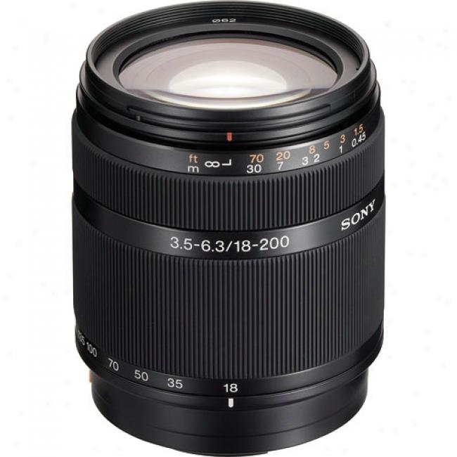 Sony Sal-18200 Dt 18-200mm F/3.5-6.3 Telephoto Zoom Lens For Sony Alpha Digital Slr