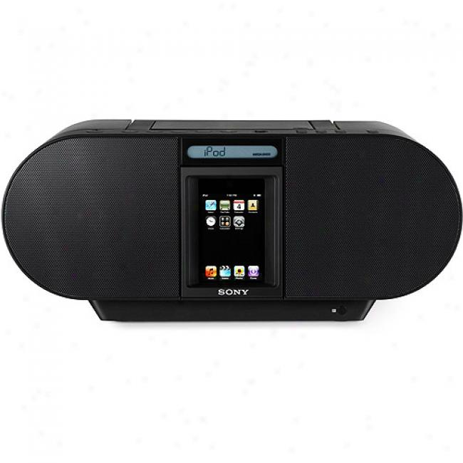 Sony Zs-s4ipblacm Cd Boombox For Ipod And Iphone