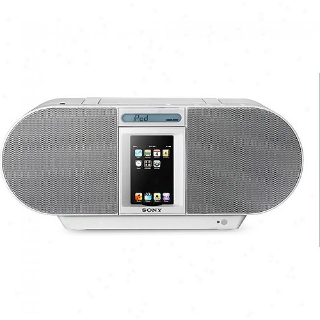 Sony Zs-s4ipwhite Cd Boombox For Ipod And Iphone