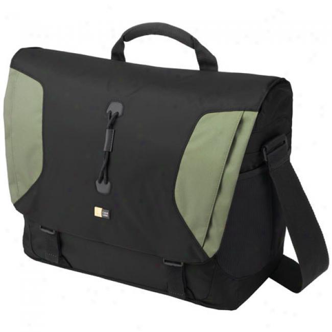 Sport Messenger Bag, Black And Green