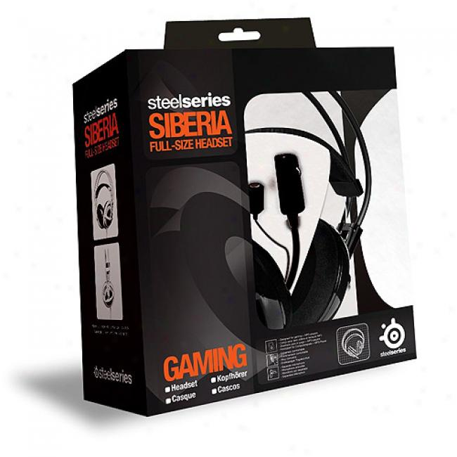 Harden Series Siberia Gaming Full-sized Headset W/ Usb Soundcard