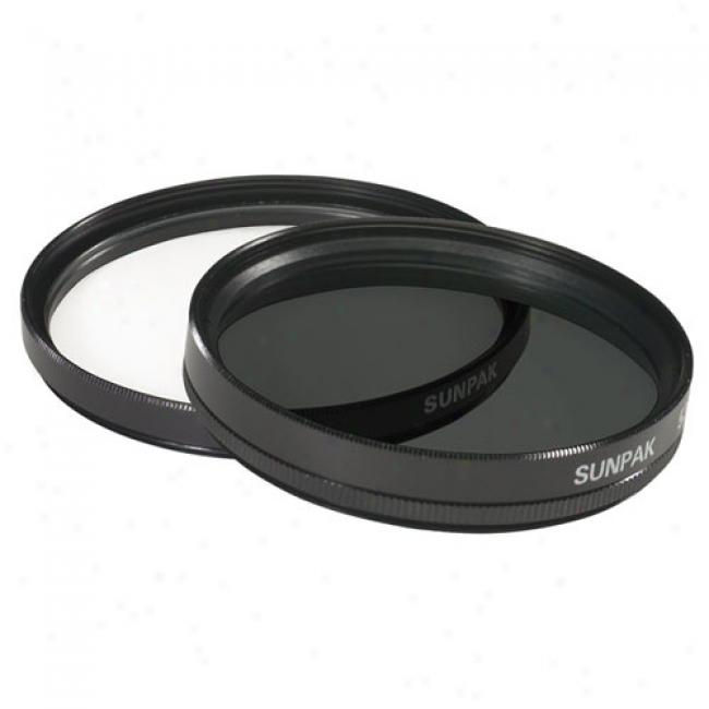 Sunpak 52mm Ultra-violet And Circular Polarized Filter Twin Pack