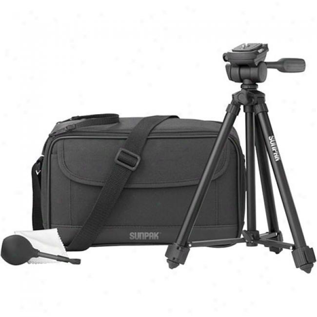 Sunpak Digital Camera & Camcorder Kit - Includes Bag, 49