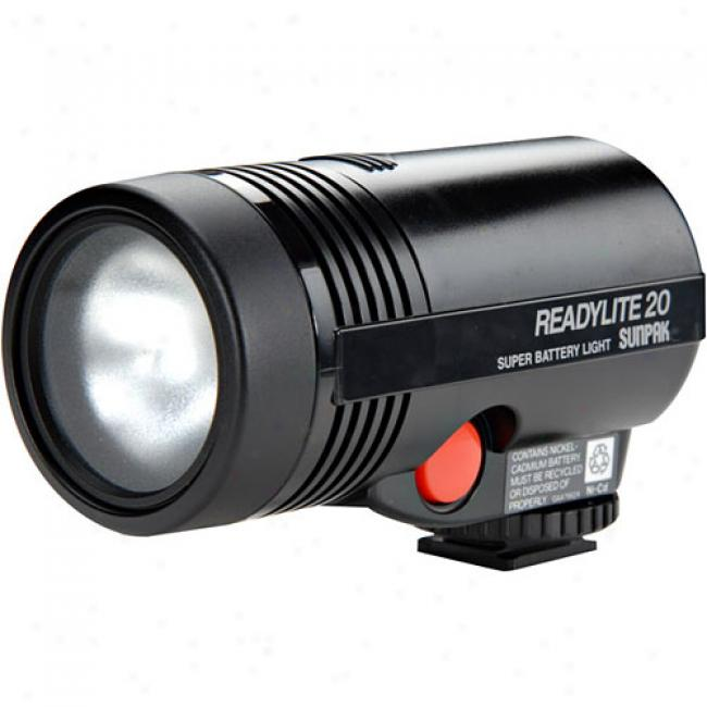 Sunpak Readylight 15-watt Compact Cordless Video Lighg For Camcorders