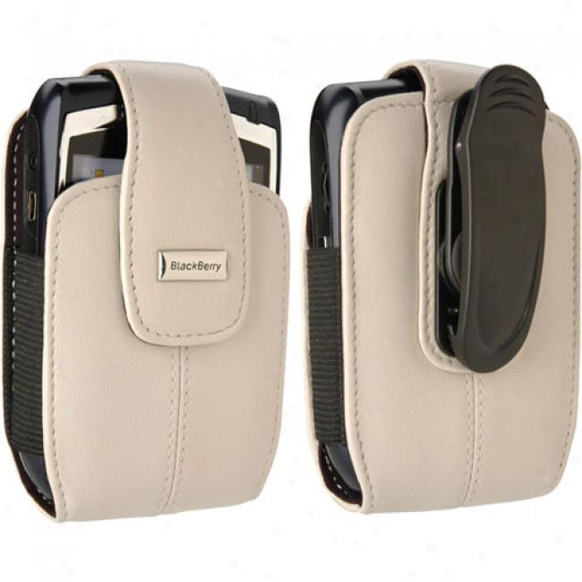 Superior Communications - Leather Vertical Pouch W/belt Clip For 8700,_8800 Series, Pearl White
