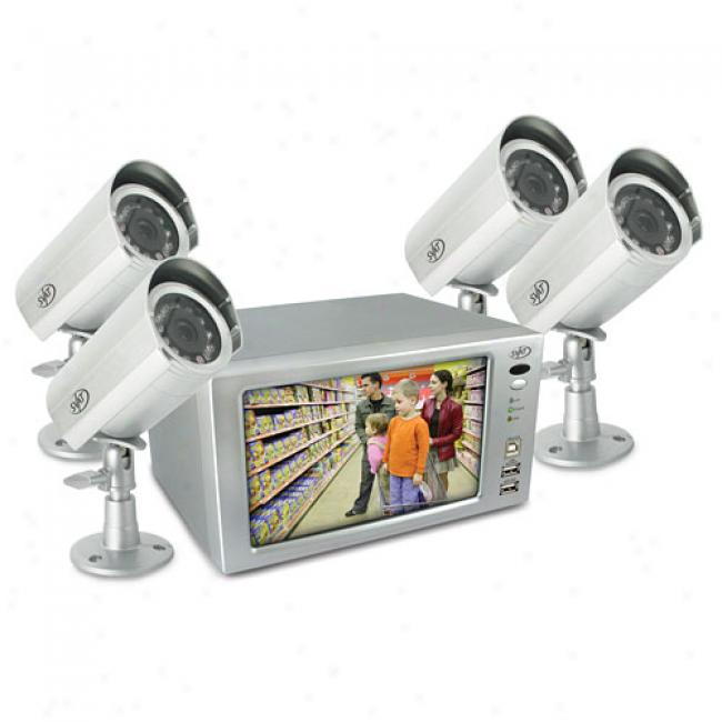 Svzt Clearvu1 Ultra Compact Web Ready Video Recording Security System W/ Built-in 7