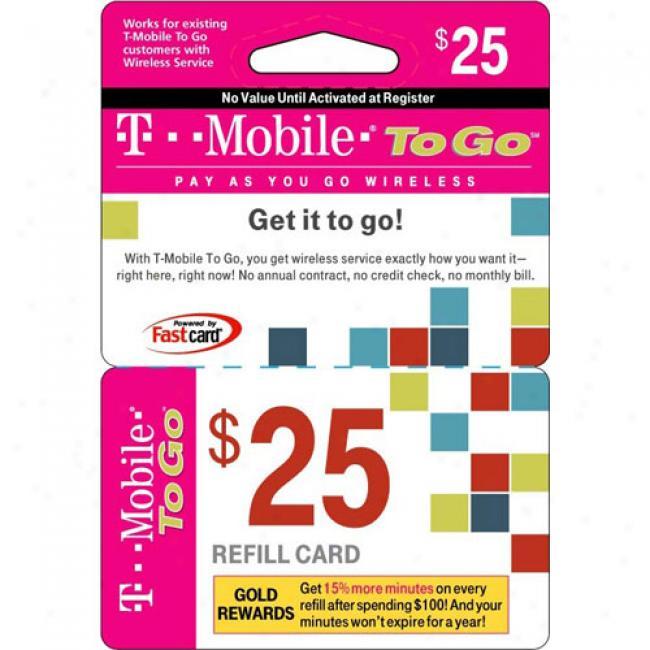 T-mobile $25 Prepaid Wireless Airtime Card