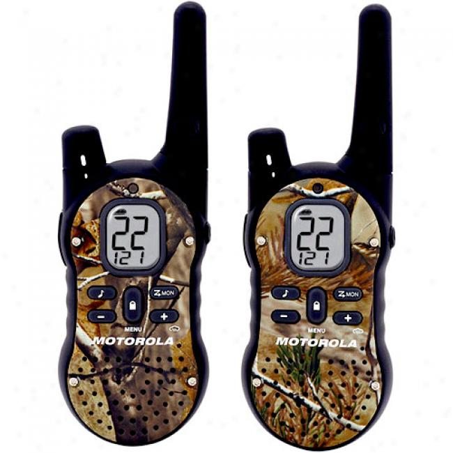 Talkabout Gmrs/frs 2-way Radios With 12-mile Range With Camo Faceplates