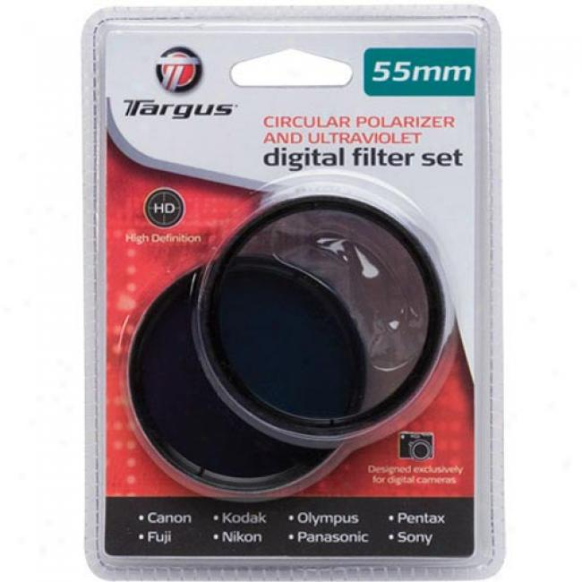Targus 55mm Uv Filter & Ciecular Polarizer Combo, Tg-55c