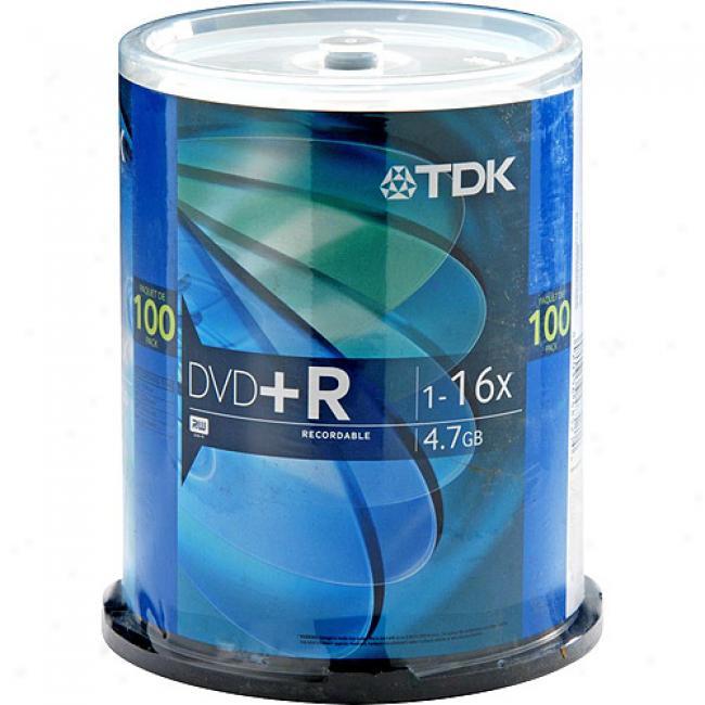 Tdk 16x Dvd+r Disds, 100-pack