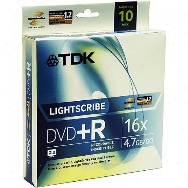 Tdk 16x Lightscribe Dvd+r Discs, 10-pack