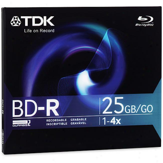 Tdk Bd-r Write-once Blu-ray Disc, Single