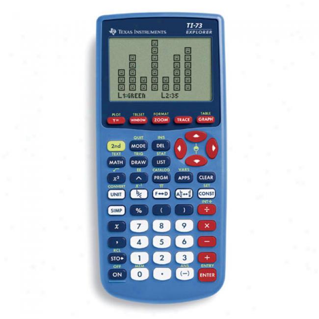 Texas Instrument Ti73 Explorer Handheld Calculator - Azure