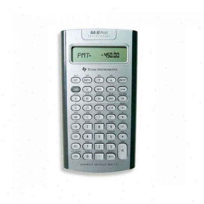 Texas Instruments Ba Ii Plus Professional Calculator