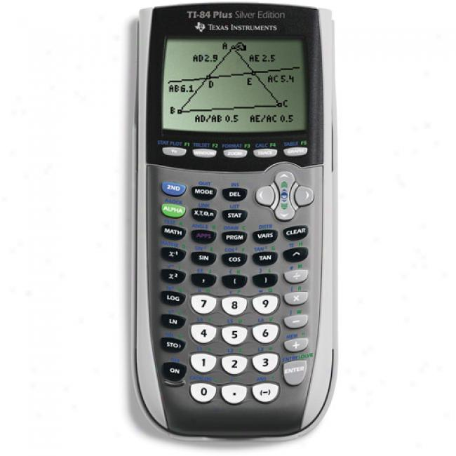 Texas Instruments Ti-84 Plus Silver Viewscreen Pack