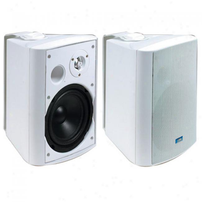 Tic 2-way Outdoor Patio Speakers W/ 6.5