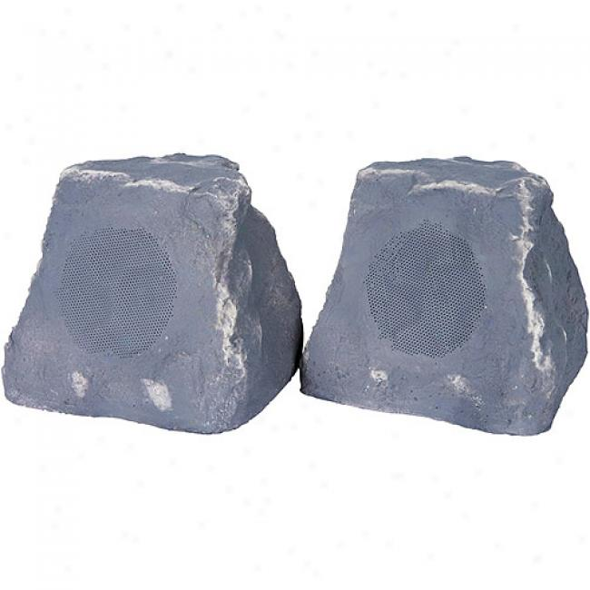 Tic Wireless Outdoor Rock Speakers - Slate, Pair