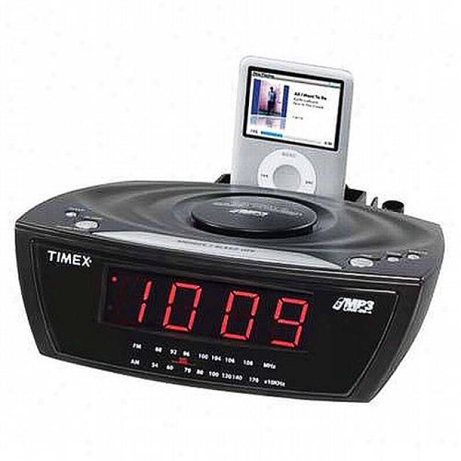 Timex Alarm Clock Radio With Mp3 Line In Black