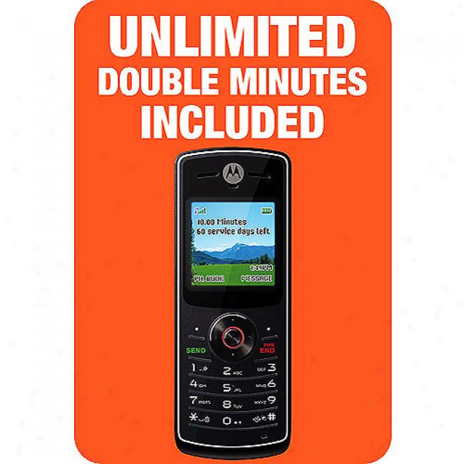 Tracfone Moto W175 Bundled W/ Double Minutes For The Life Of Your Phone (a $50 Value)