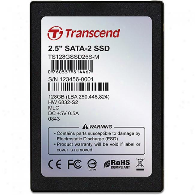 Transcend 128gb Solkd State Disk (ssd), 2.5-inch