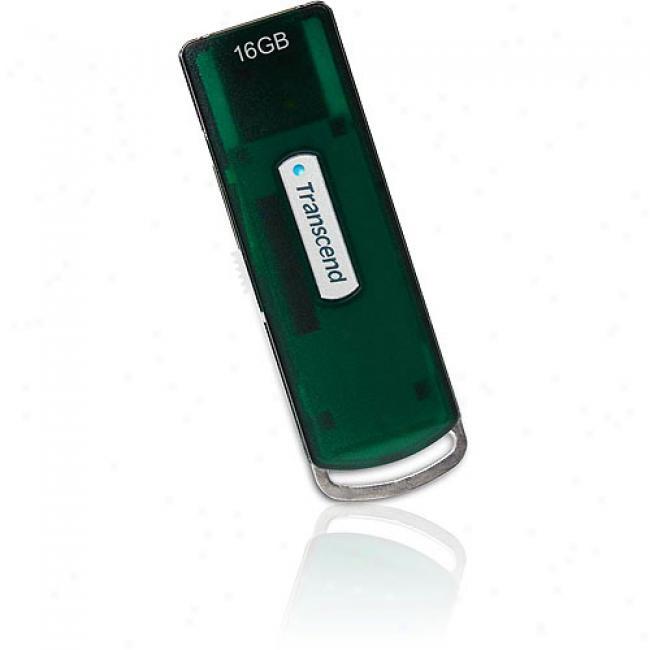 Transcend 16gb Jetflash V10 Usb Flash Drive, Green