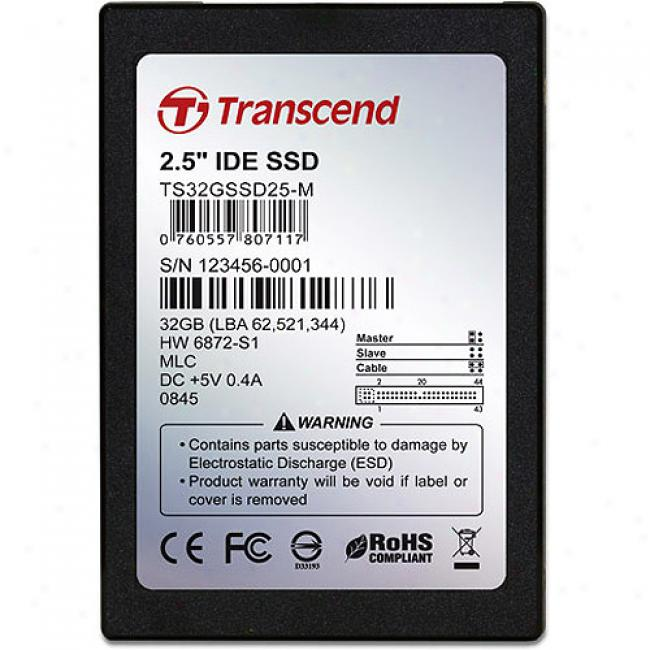 Transcend 32gb Hard State Quoit (ssd) W/ Ide Interface, 2.5-inch