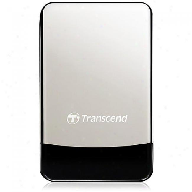 Transcend Storejet 320gb Portable Hard Be forced along Drive W/ Leather Case