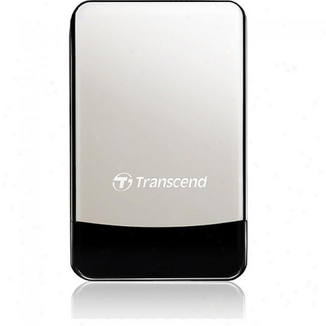 Transcend Storejet 500gb Portable Hard Drive Drive W/ Leather Case