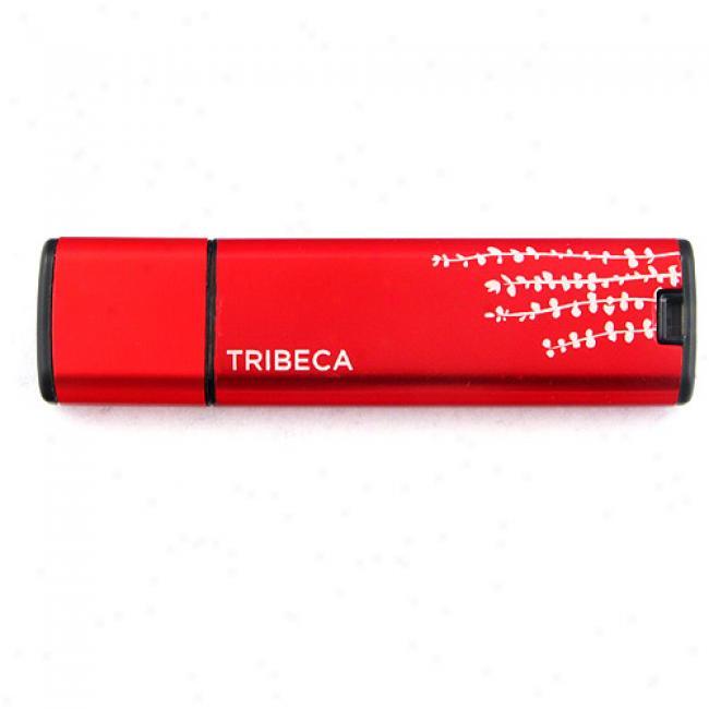 Tribeca 2gb Blossom Plash Usb Flash Drive, Red