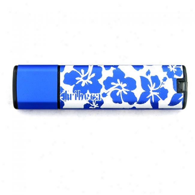 Tribeca 2gb Splash Usb Flash Drive, Blue Hawaiian
