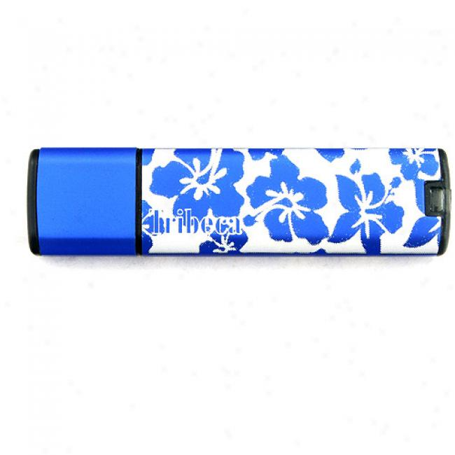 Tribeca 4gb Hawaiian Splash Usb Flash Drjve, Blue