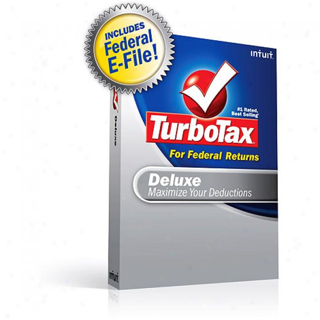Turbotax Deluxe Federal + Federal E-file 0208