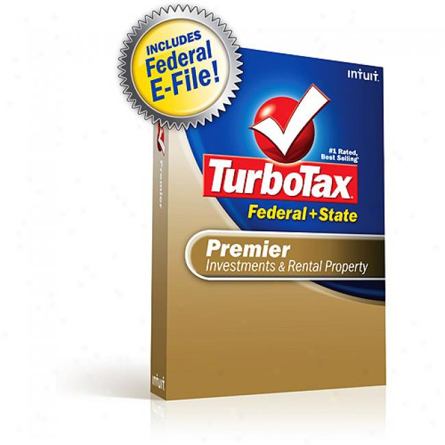 Turbotax Premiier Federal + State + Treaty E-file 2008