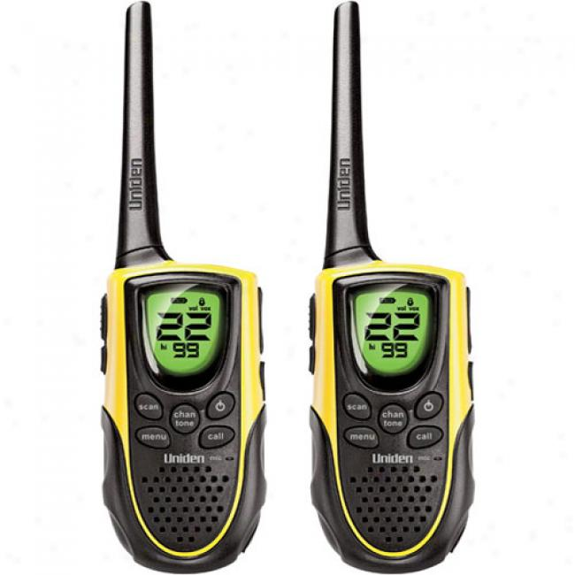 Uniden - 2-pack 18 Mile Range Gmrs Radios With Dual Charging Cradle