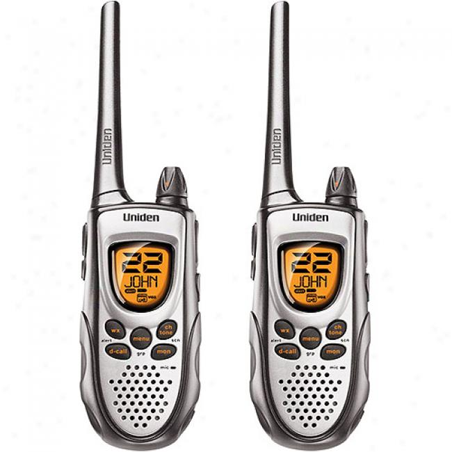 Unisen 2-way Radios W/ 28-mile Range, Batteries & Charger, Pair