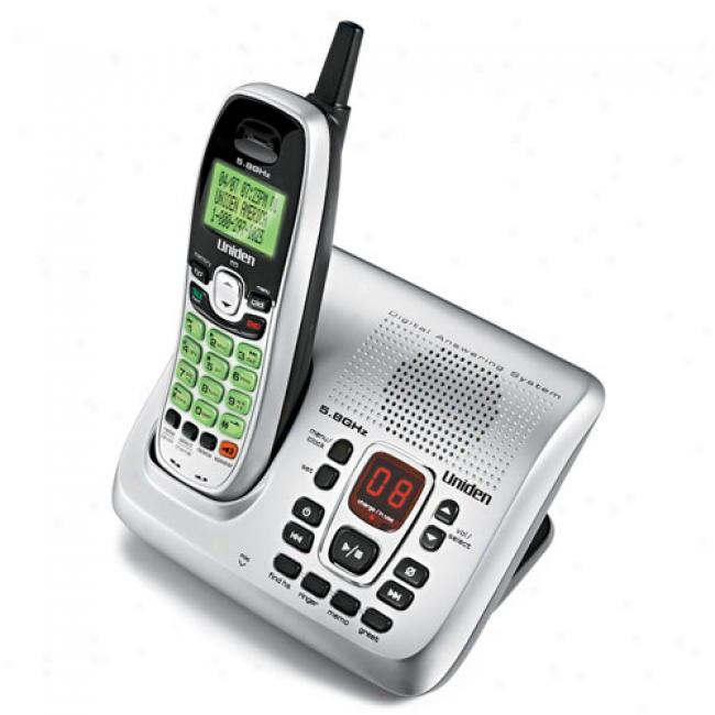 Uniden 5.8G hz Cordless Phone W/ Digktal Answering System, Exai8580