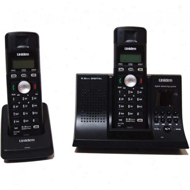 Uniden 5.8ghz Digital Phone With Caller Id And Answerer, 2 Handsets