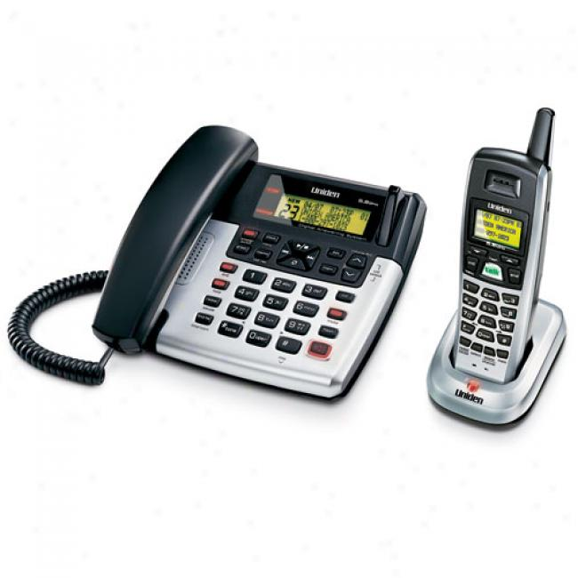Uniden Corded Phone W/ 5.8 Ghz Analog Cordless Handset, Cxai5698