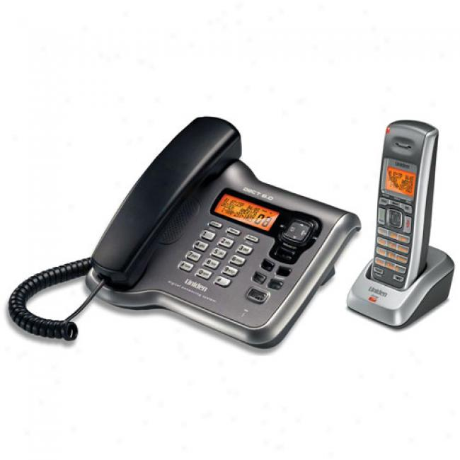 Uniden Dect 6.0 Corded/cordless Phone With Dual Keypad, Cordless Handset And Charger