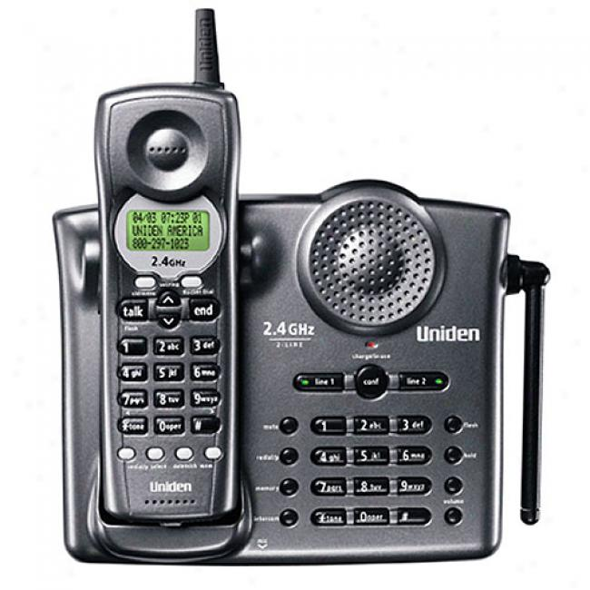 Uniden Exi3226 2.4ghz Cordless Phone, Charcoal
