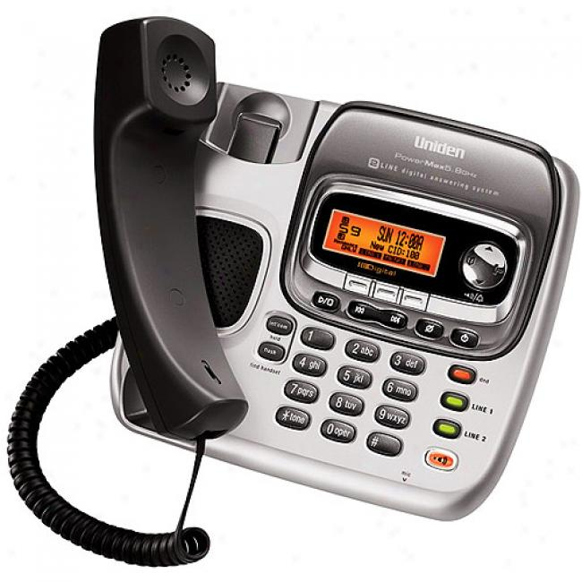 Uniden Expandable 2-line Corded/cordless Telephone With Dual Keypad, Digital Answering System And Call Waiting/caller Id