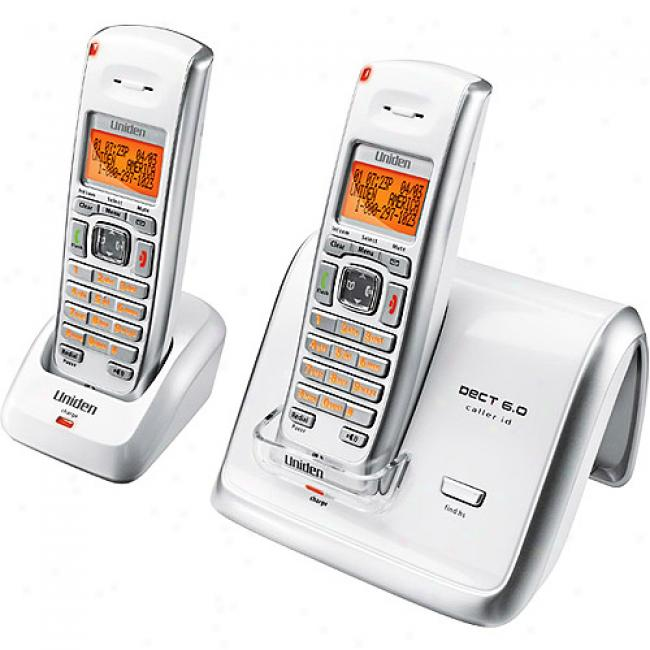 Uniden White Dect6.0 Compact Cordless Phone With Caller Id