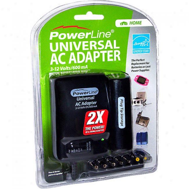 Universal Ac Adapter  600ma