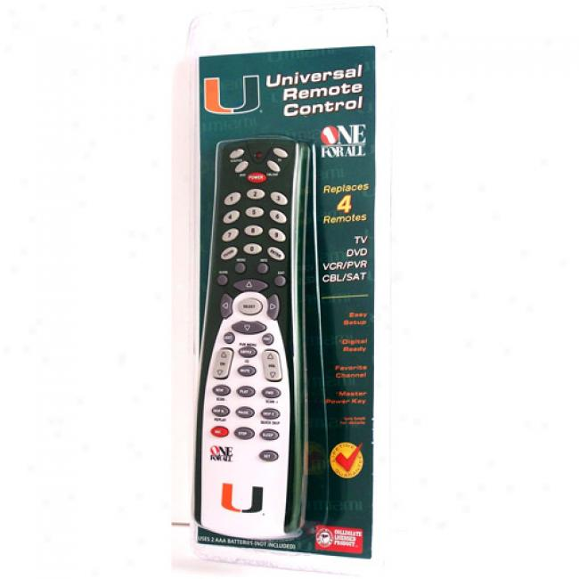 University Of Miami Universal Remote Control