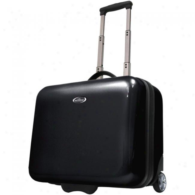 Us Traveler Rolling Laptop Briefcade, Royal Black
