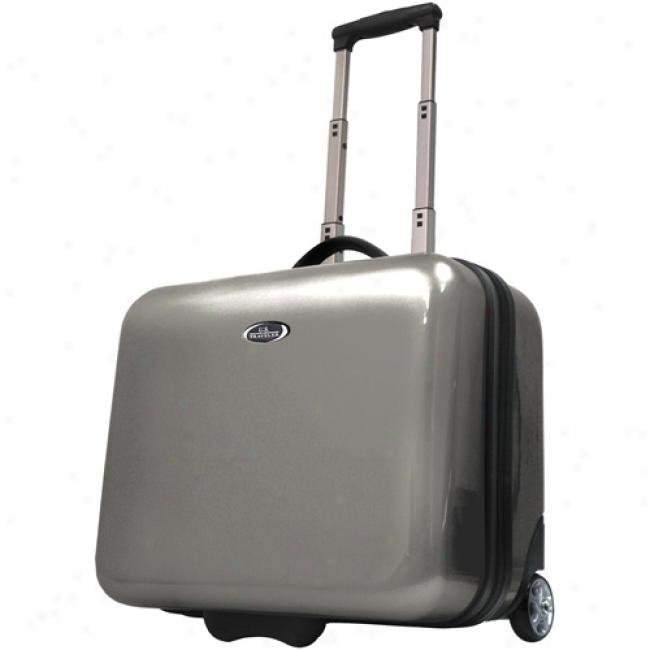 Us Traveler Rolling Laptop Briefcase, Champagne