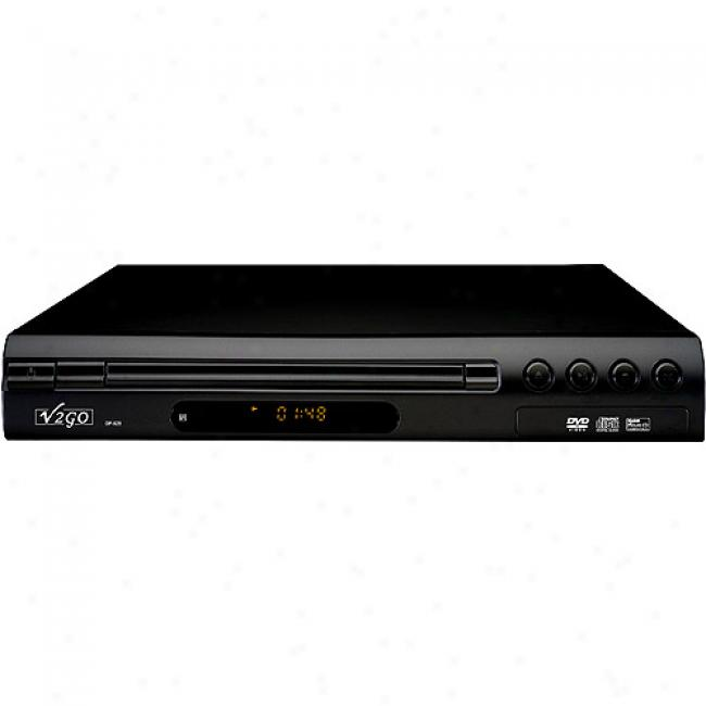 V2go Ultra-slim Dvd Player, Dp-828