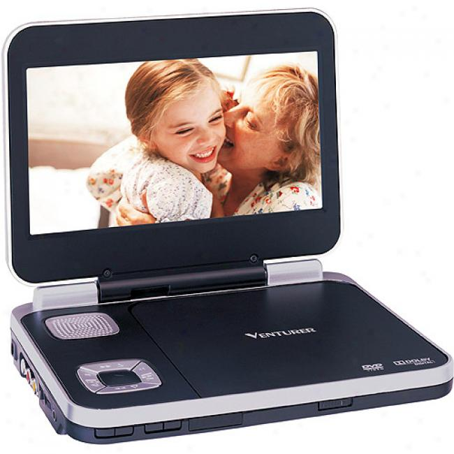 Venturer 8'' Portable Dvd Player, Black