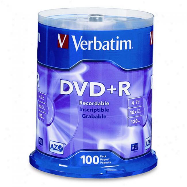 Verbatim 100-pack 1x-16x Dvd+r Blank Discs